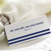 Nautical Stripe Tented Wedding Place Cards - Nautical Escort Cards - Wedding Seating Cards - Custom Colors - Blank or Personalized Options