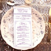 Art Deco Wedding Thank You Menus