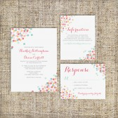 Confetti Wedding Invitation Suite DEPOSIT - DIY - MODERN, Chic, Dots, Contemporary, 2014, Spring, Summer, Preppy, Cute,
