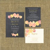 Wedding Invitation Suite Chalkboard - rintable - DIY Wedding, CHALK, Flowers, Watercolor, Custom, Traditional