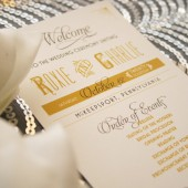 Great Gatsby Wedding Programs