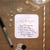 Personalized Wishes Coasters