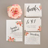 Wedding Invitation Suite Set DEPOSIT - Printable, Custom, DIY - MODERN, Flowers, Floral, Artsy, Digital, Traditional
