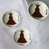 Small Custom Bridesmaid Gift, Bridal Party Dresses or Groomsmen Suits Ring Dish Gift for wedding guests