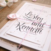 Scripted Romance Wedding Invitations