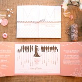 Silhouette Wedding Programs