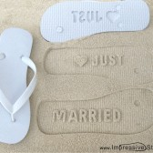 Just Married Engraved Flip Flops