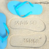 Custom Wedding Party Sand Imprint Flip Flops!