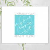 Unique wedding guestbook alternative, canvas, tiffany blue, happily ever after, wedding date, guest sign In, wall art