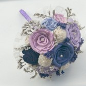 Small Hand Dyed Mixed Violets Bouquet