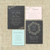 Wedding Invitation Suite Chalkboard - rintable - DIY Wedding, CHALK, Vintage, Modern, Traditional, Black