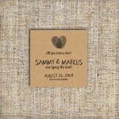 Fingerprint Save the Date Card