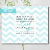 Chevron wedding guest book alternative canvas, romantic quotes, love quotes, personalized guest sign in, unique