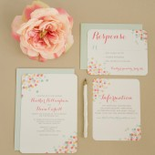 Confetti Wedding Invitation Suite