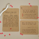Kraft Wedding Invitation Set