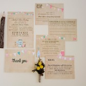 Wedding Invitation Suite - Rustic, Shabby Chic