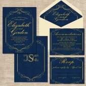 Vintage Wedding Invitation - Valencia