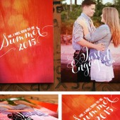 Whimsical Summer Engagement Cards