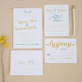 Bird Wedding Invitation Suite Set