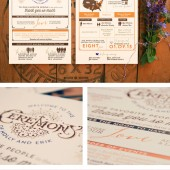 Unique Rustic Vintage Wedding Program
