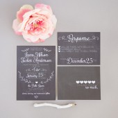 Chalkboard Wedding Invitation Suite Set