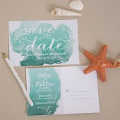 Watercolor Save the Date Postcard