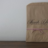 Treat bag wedding favors