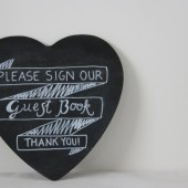 CHALKBOARD HEART GUEST BOOK SIGN