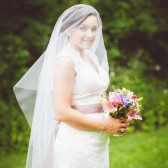 "Drop Wedding Veil 90"" Long Illusion Tulle"