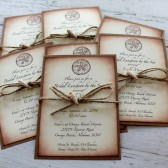 Vintage Inspired Beach Themed Invitation