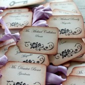 Vintage Inspired Escort Card Tags - Flourish