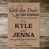 Kraft Postcard Save the Date