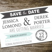 Scratch Off Postcard Save the Date