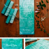 Rolled Wedding Program