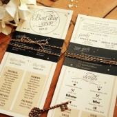 Black and Gold Wedding Program
