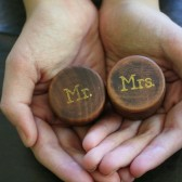 Wedding ring box set, Mr and Mrs, wooden ring box