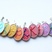 Colorful Initial Necklace for Bridesmaids