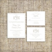Elegant Wedding Invitation Suite Set