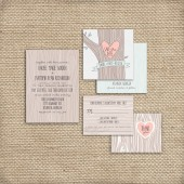 Woodland Wedding Invitation Set