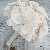 Lace & Fabric Ivory Anemone Bouquet