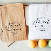 Love is Sweet - Wedding Favor Bags