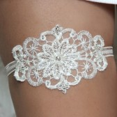 Ivory lace garter