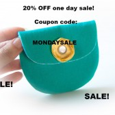 20% OFF/Coin purse clutch fabric wallet clutch pouch turquoise yellow rose/ Valentine's day SALE