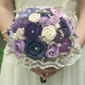 Hand Dyed Mixed Violets Bouquet