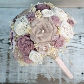 Custom Rosewood Plum Bride's Bouquet