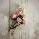 Pink Flower Hair Pins