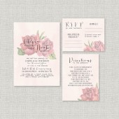 Watercolor Roses Wedding Invitation Suite