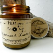 bridesmaid proposal, bridesmaid gift, amid of honor proposal, maid of honor gift, candle