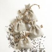 25 Lavender Sachets in linen pouches, lavender wedding, guest favors with personalized tags