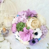 Purple Paper Bouquet